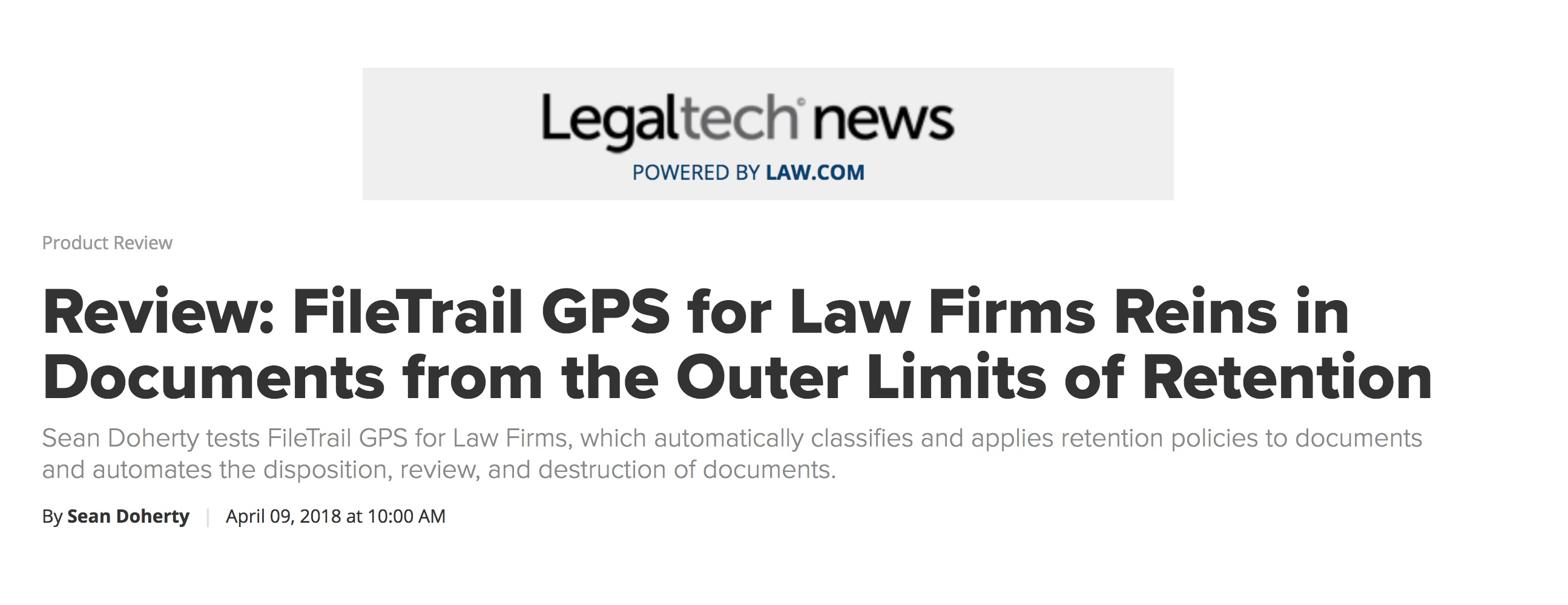 Legaltech review of GPS for law firms