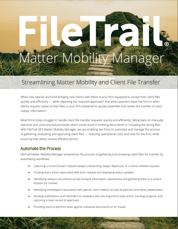 Filetrail GPS Matter Mobility Manager overview