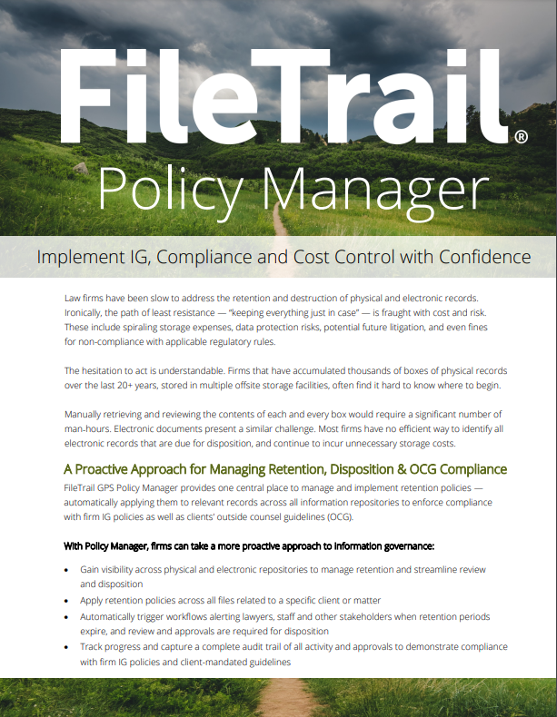 Filetrail GPS Policy Manager overview