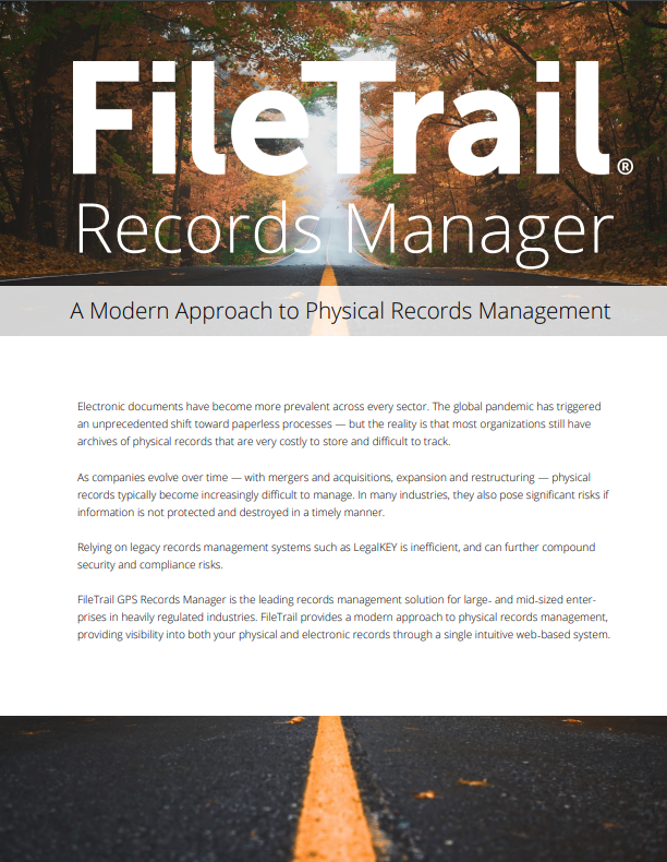 Filetrail GPS Records Manager overview