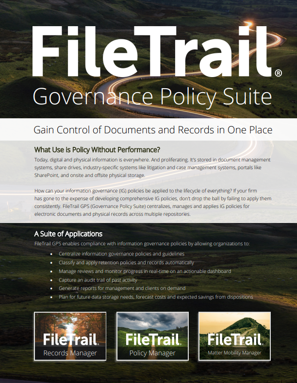 Filetrail GPS overview