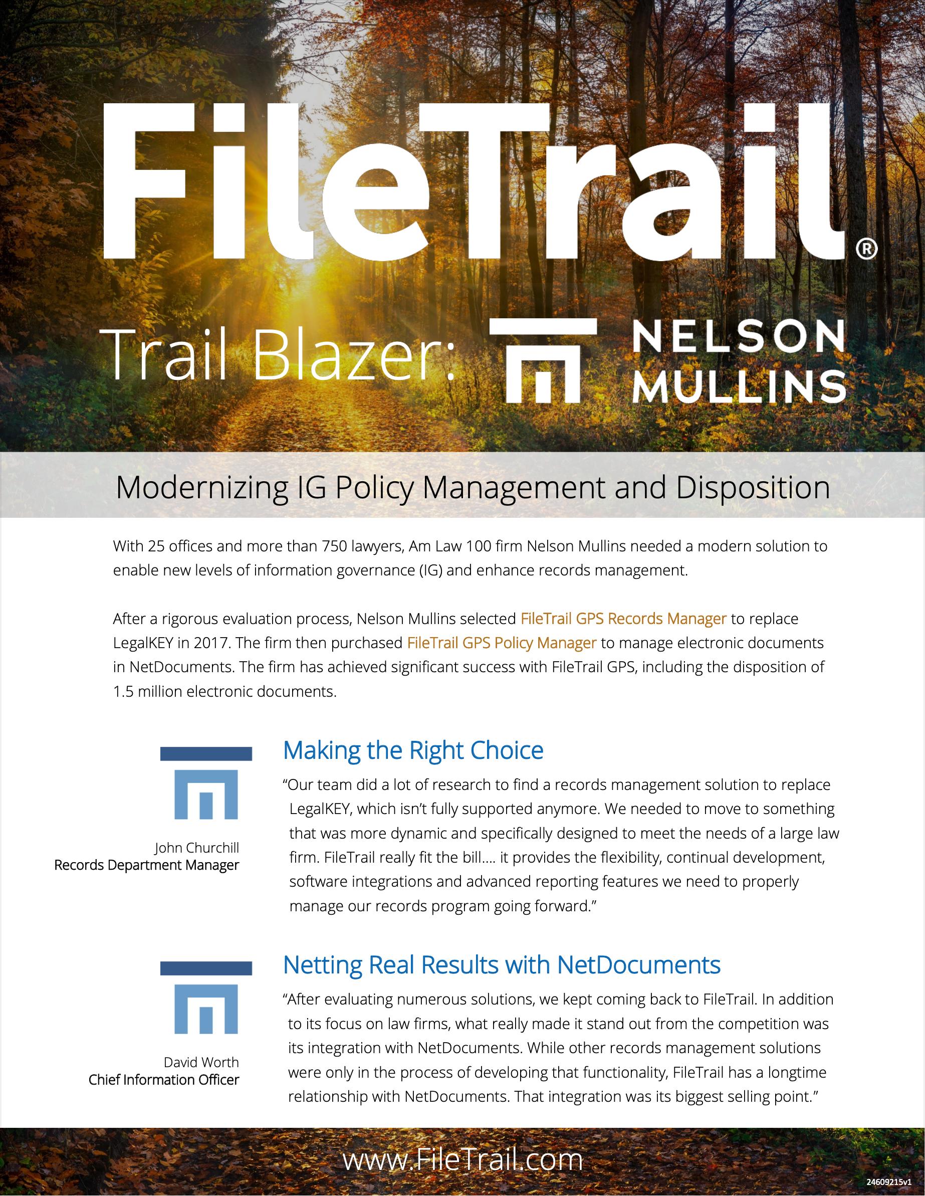 Nelson Mullins REcords Management Case Study