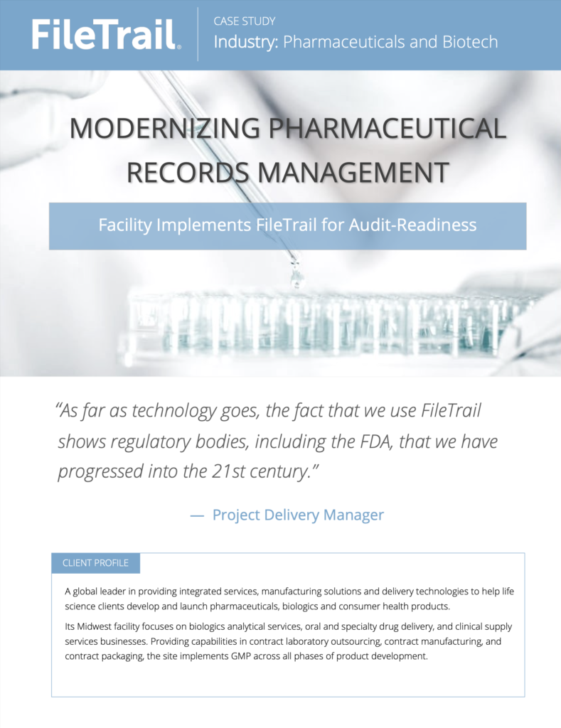 case study on modernizing pharmaceutical records management
