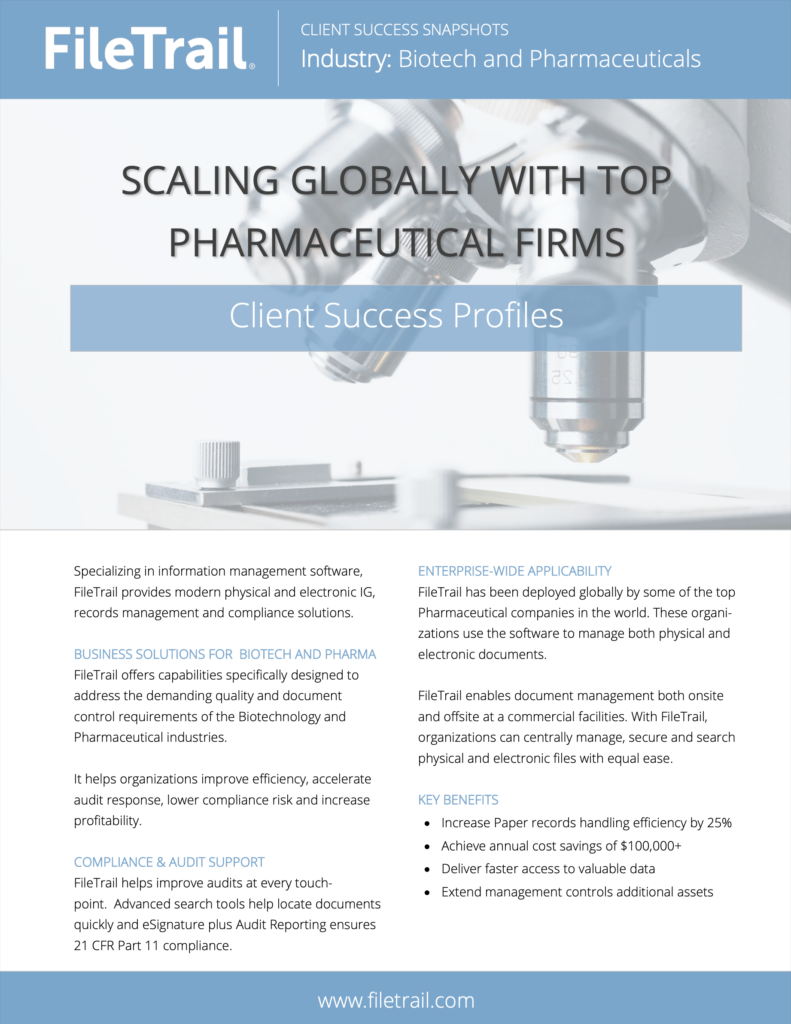 Client snapshot - scaling globally with top pharma firms