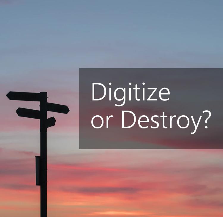 Digitize or Destroy?